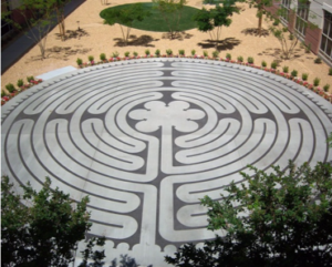 Maze on ground